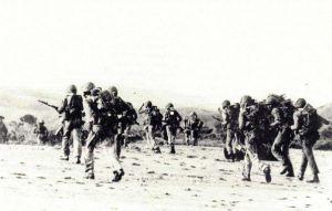 Marinir Indonesia mendarat di dekat Dilli