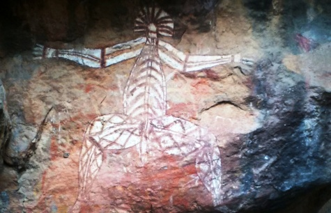 Nabulwinjbulwinj Painting - Lukisan Batu Orang Aborigin (Foto: Adil Kurnia)